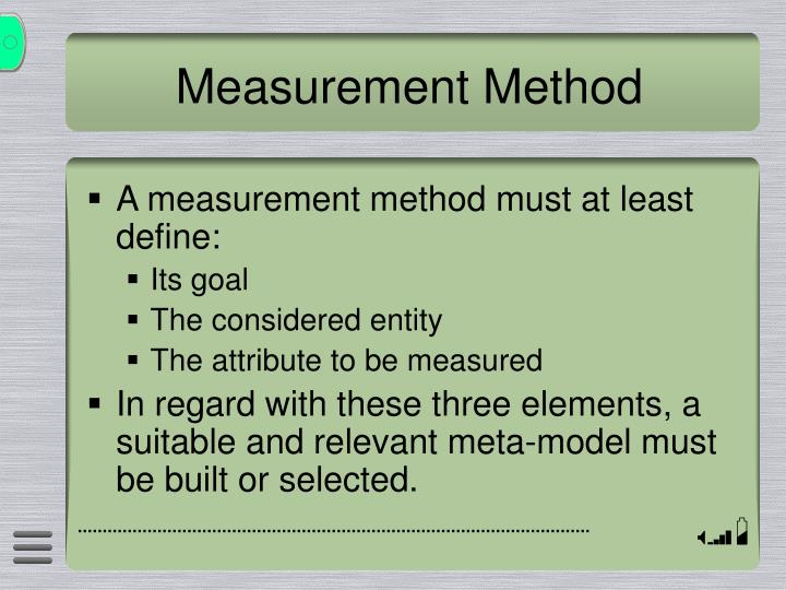 Measurement Method