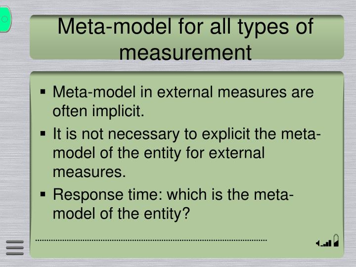 Meta-model for all types of measurement