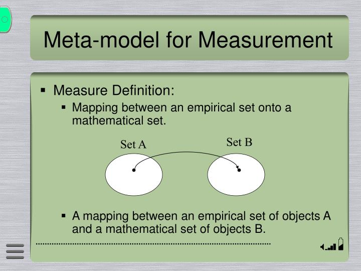 Meta-model for Measurement