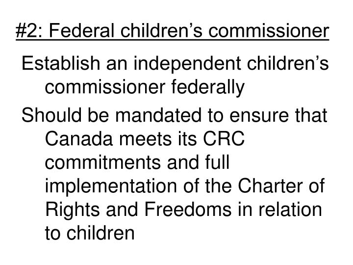 #2: Federal children's commissioner