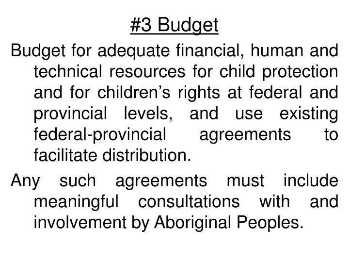 #3 Budget