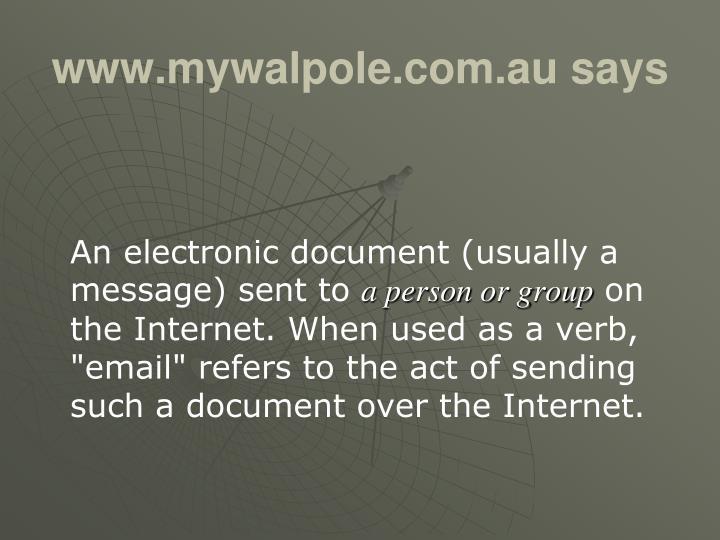 www.mywalpole.com.au says