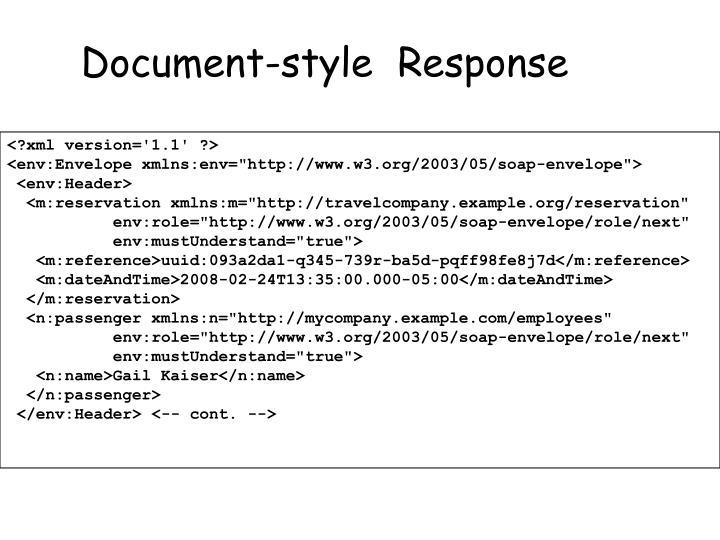 Document-style  Response