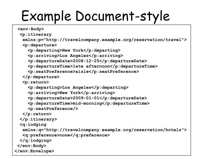 Example Document-style