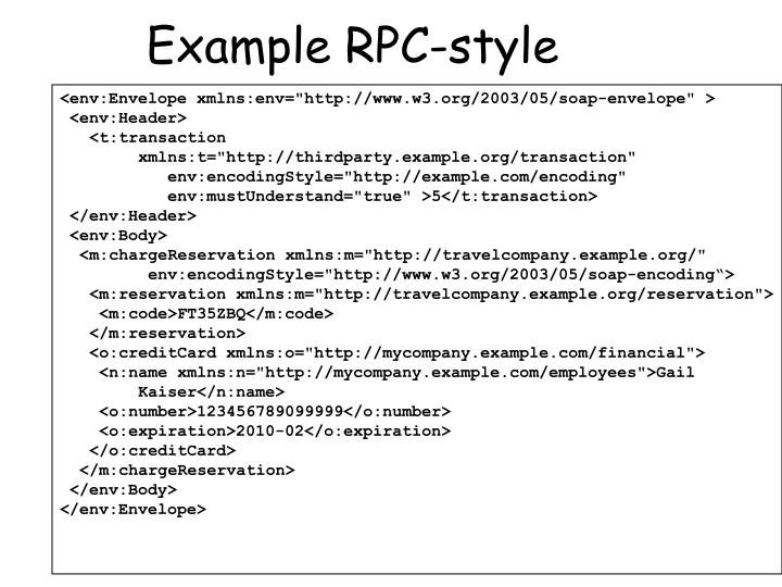 Example RPC-style