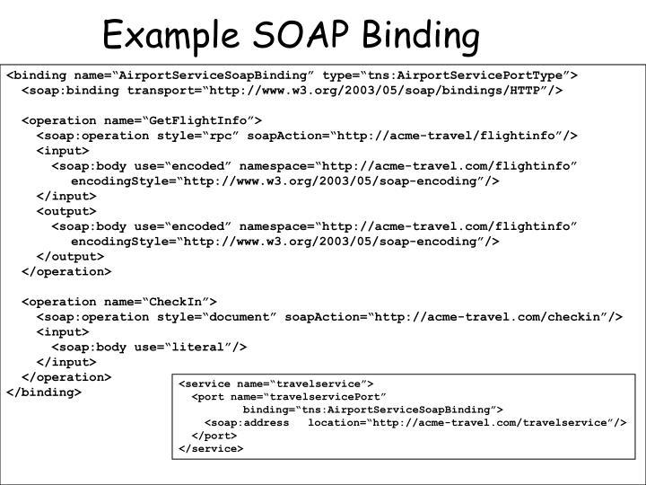 Example SOAP Binding