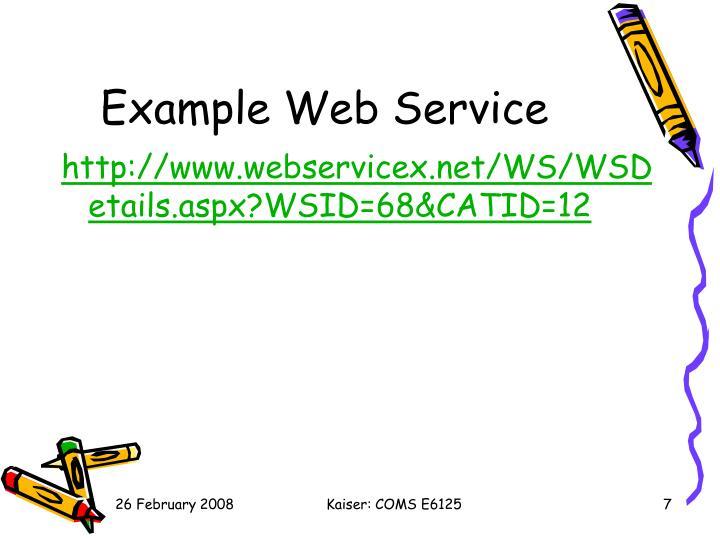 Example Web Service