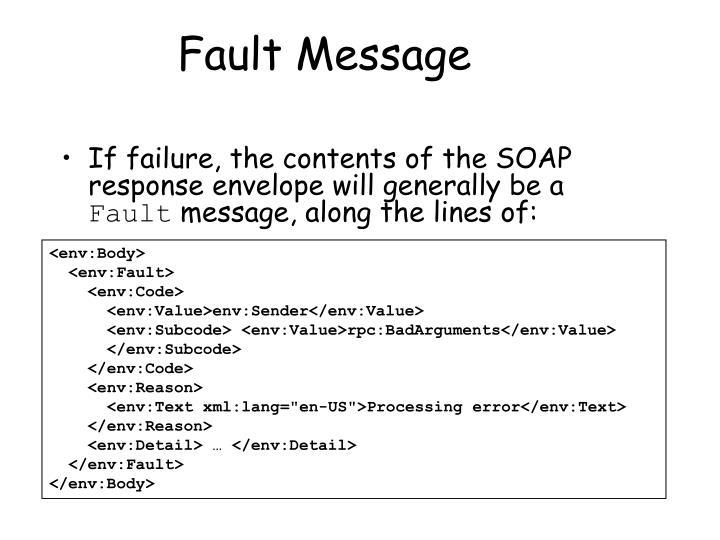 Fault Message