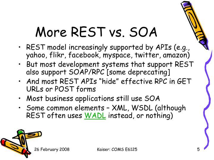 More REST vs. SOA