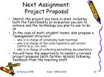 next assignment project proposal2