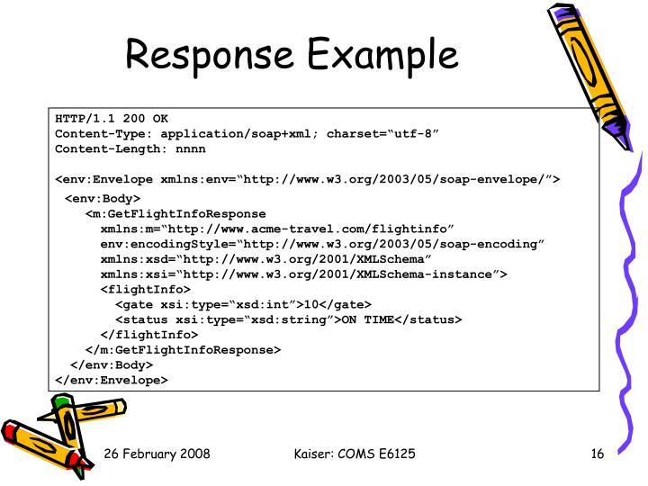 Response Example
