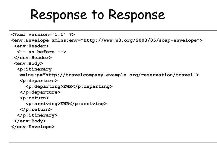Response to Response
