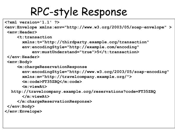 RPC-style Response