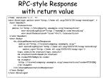rpc style response with return value