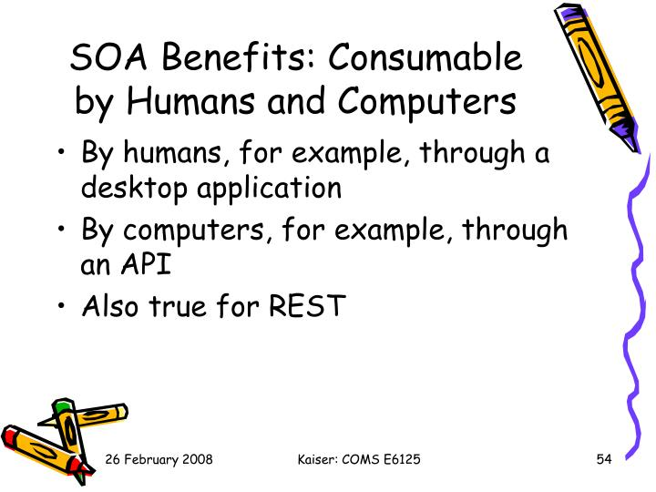 SOA Benefits: Consumable by Humans and Computers