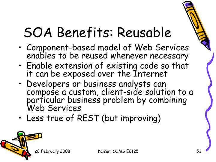 SOA Benefits: Reusable