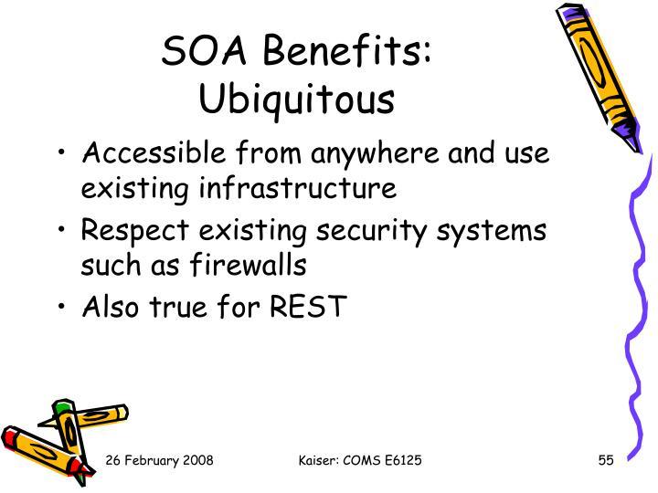 SOA Benefits: Ubiquitous