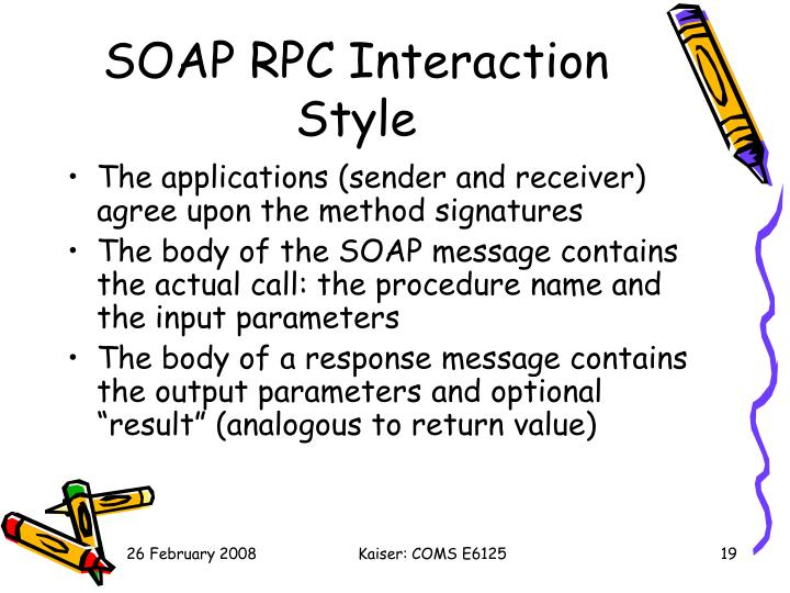 SOAP RPC Interaction Style