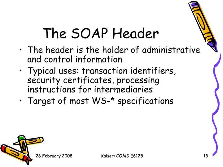 The SOAP Header