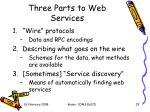 three parts to web services1