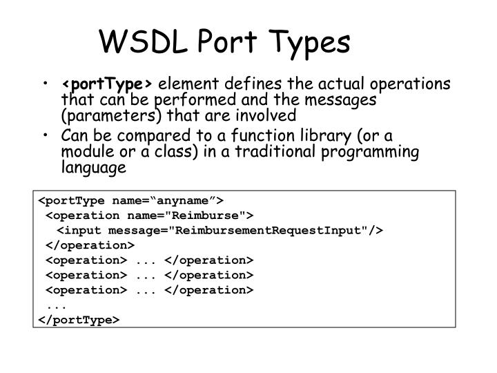 WSDL Port Types
