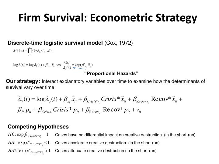 Firm Survival: Econometric Strategy