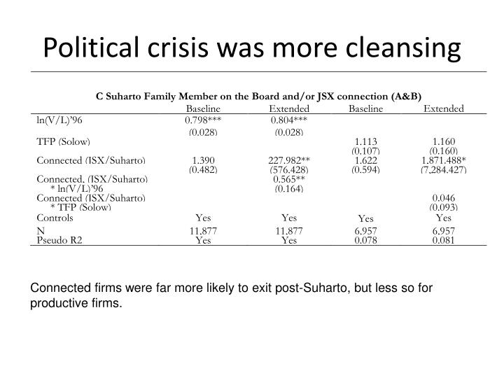 Political crisis was more cleansing