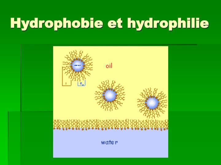 Hydrophobie et hydrophilie