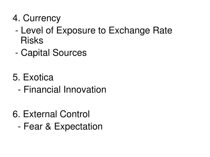 4. Currency