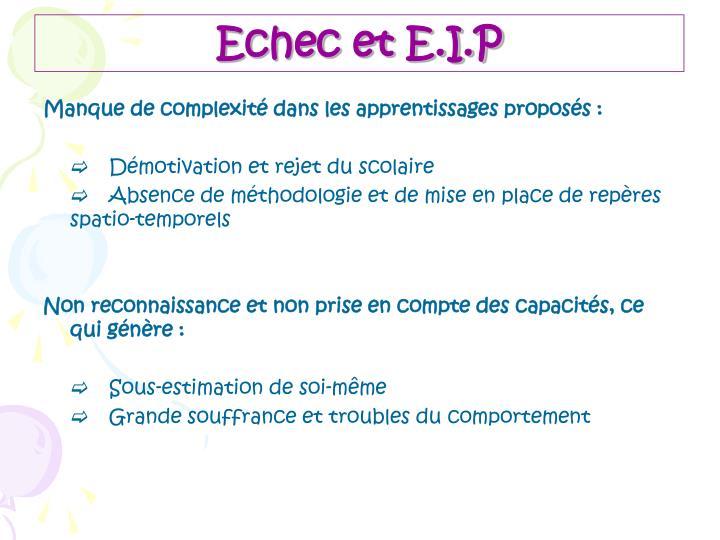 Echec et E.I.P