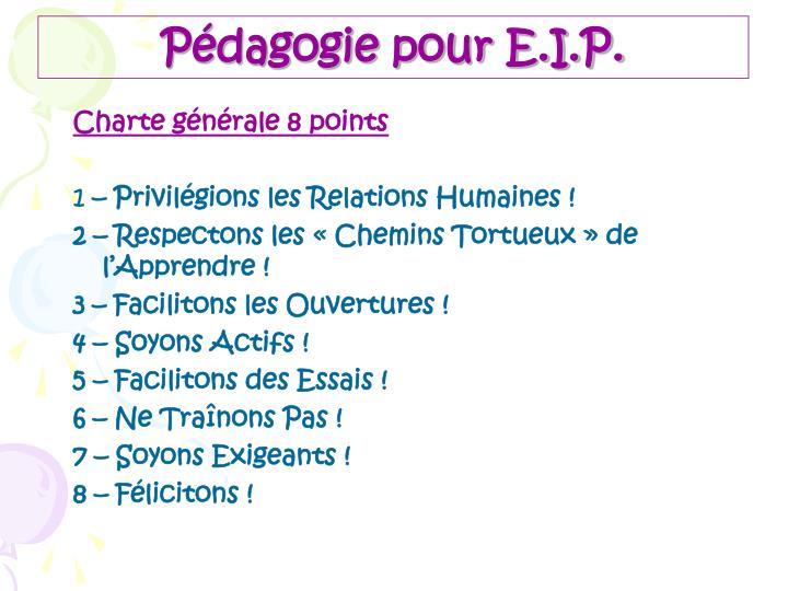 Pédagogie pour E.I.P.