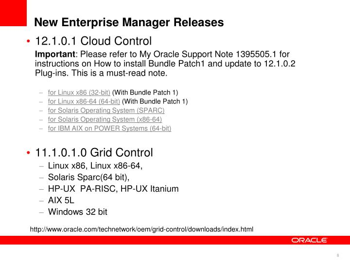 New Enterprise Manager Releases
