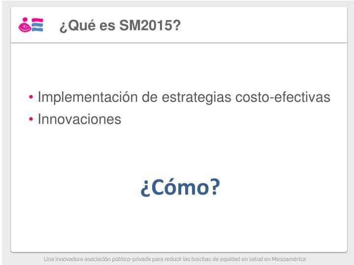 ¿Qué es SM2015?