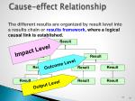 cause effect relationship