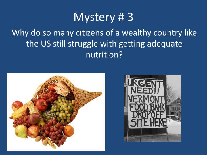 Mystery # 3