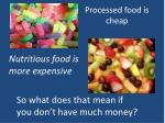processed food is cheap
