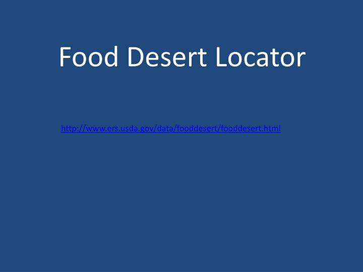 Food Desert Locator