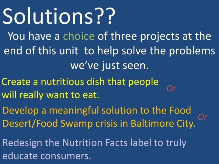 Solutions??