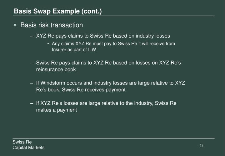 Basis Swap Example (cont.)