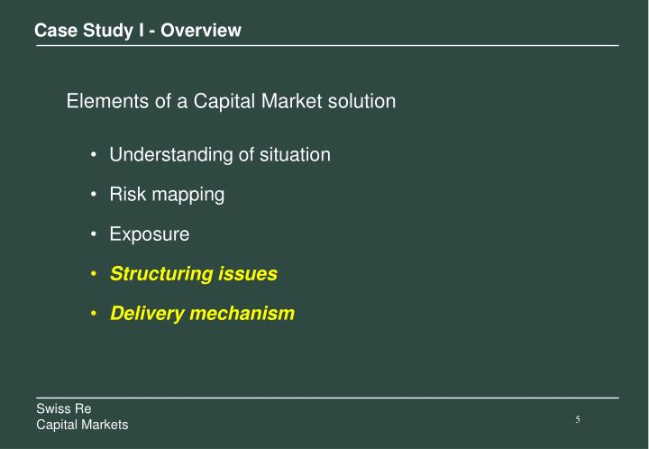 Case Study I - Overview