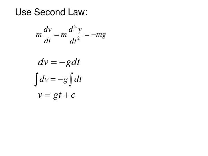 Use Second Law: