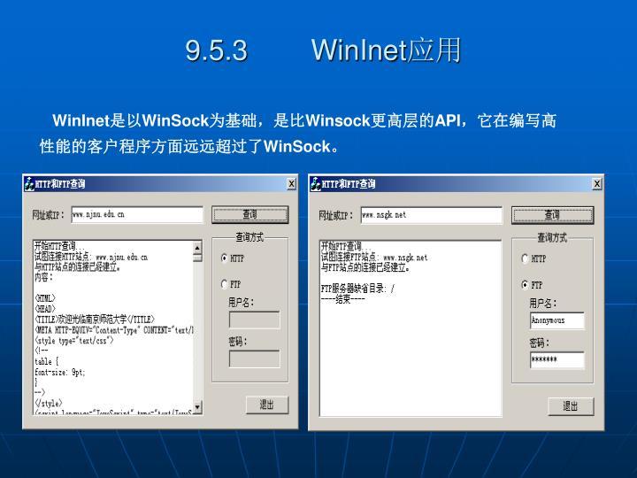 9.5.3        WinInet