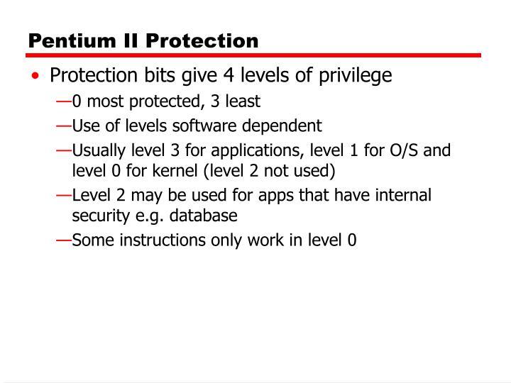Pentium II Protection