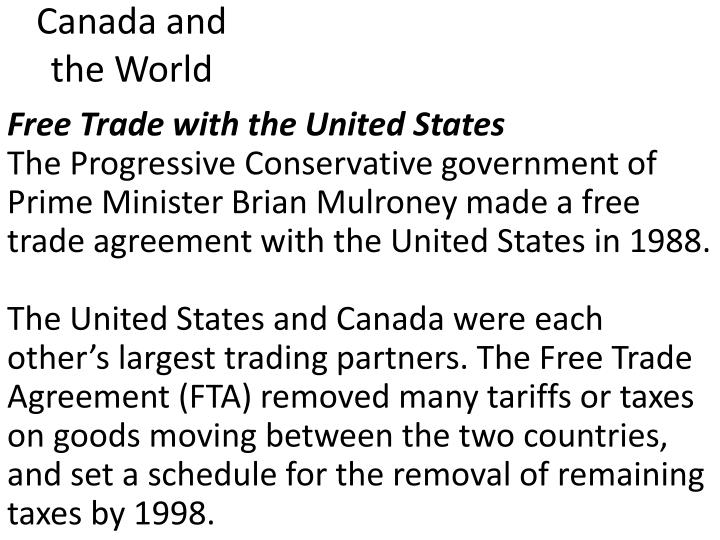 Free Trade with the United States