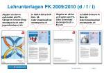 lehrunterlagen fk 2009 2010 d f i