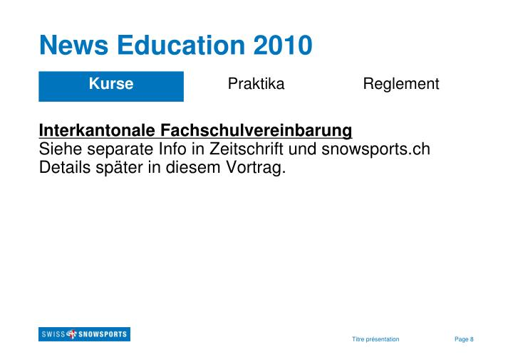 News Education 2010