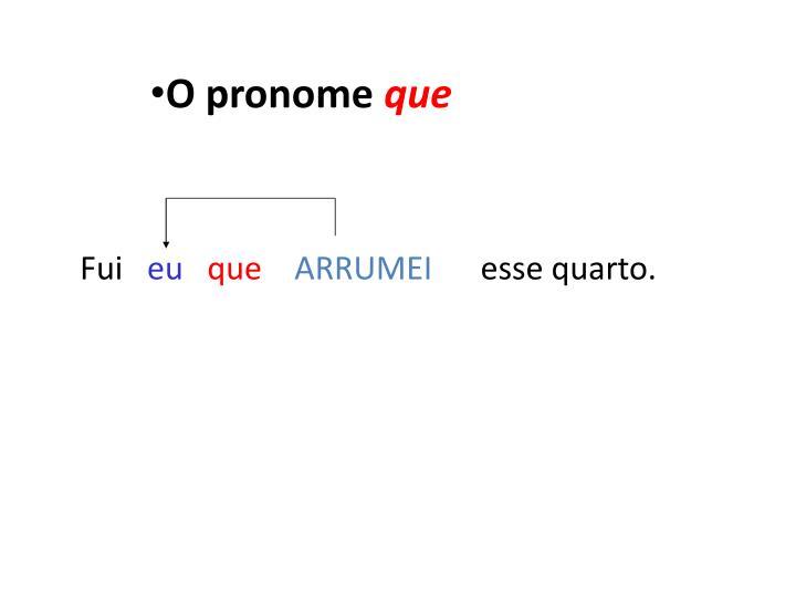 O pronome