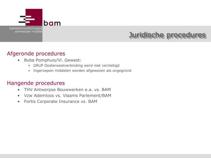Juridische procedures
