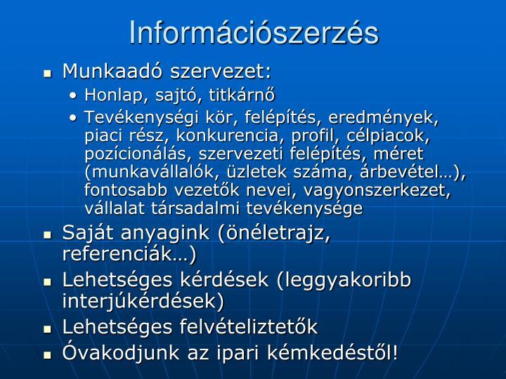 Információszerzés