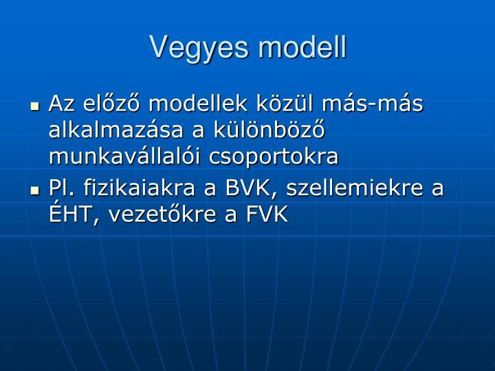Vegyes modell